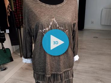Camiseta y Falda. Pikara Moda