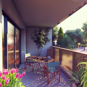 render de terraza en urbanizacion de francia